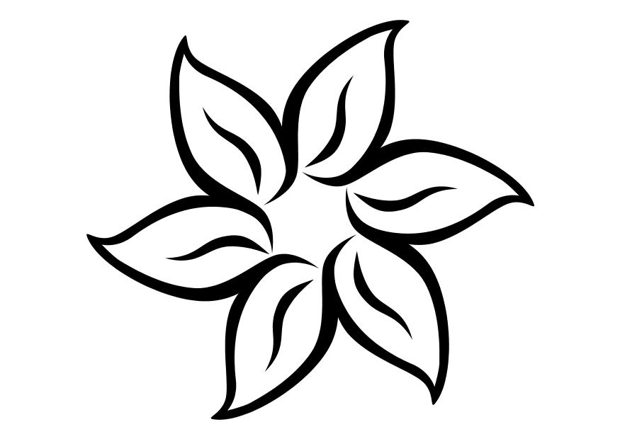 Simple flower coloring pages az coloring pages for Easy flower coloring pages