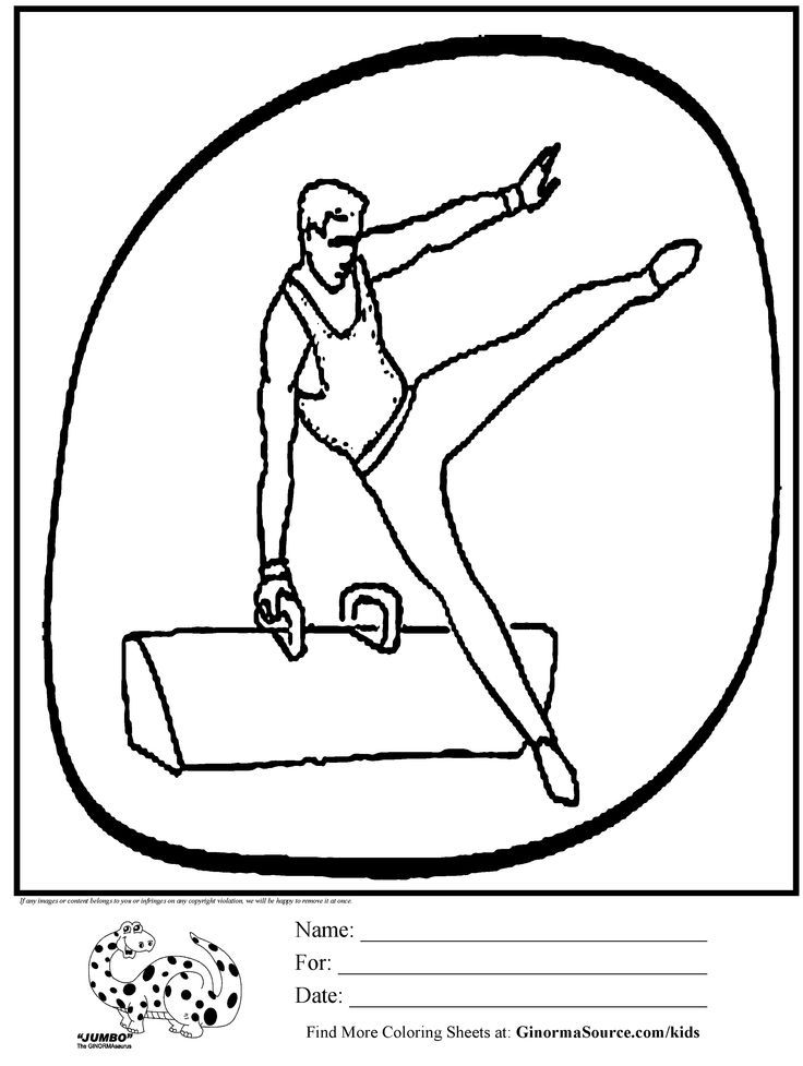 gymnastics coloring pages for kids - photo#12