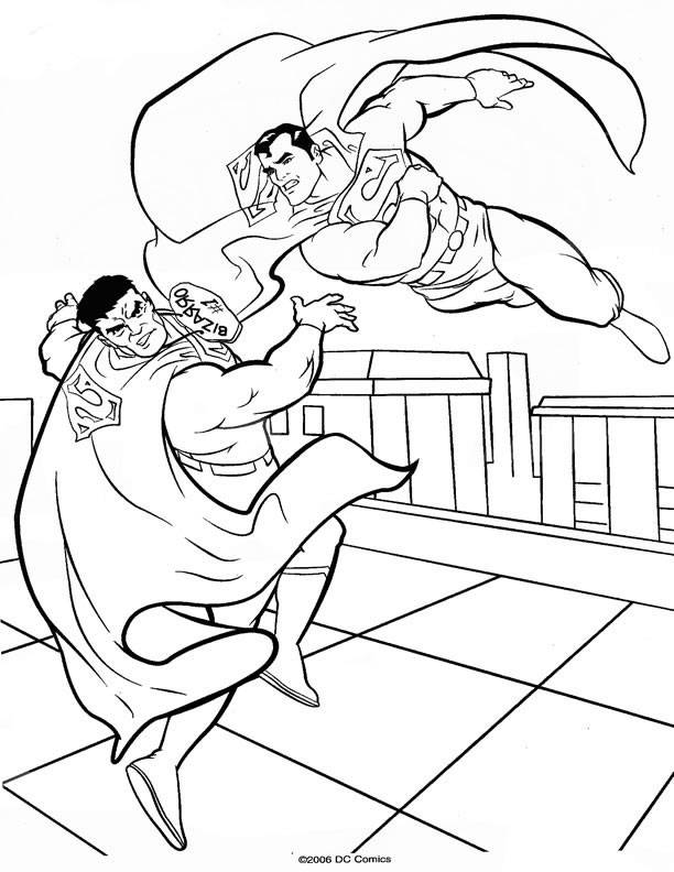 Superman Coloring Pages Pdf : Superman coloring az pages
