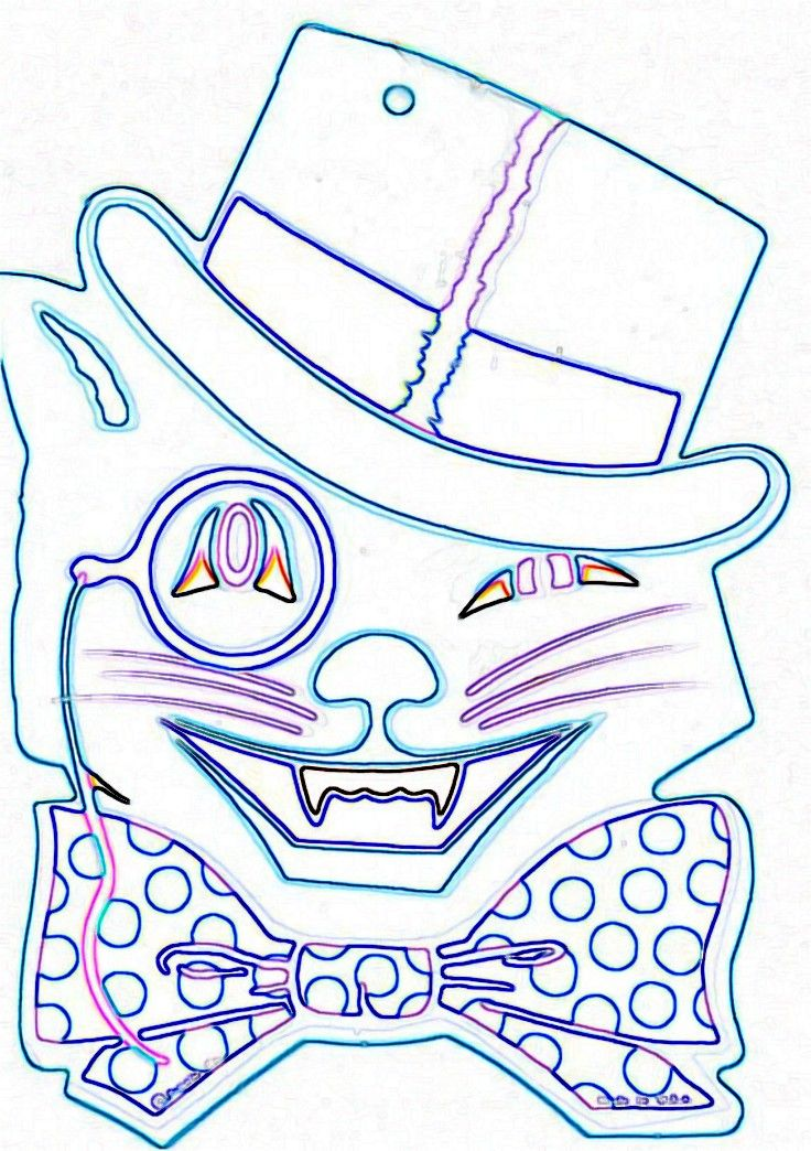 vintage halloween coloring book pages collections