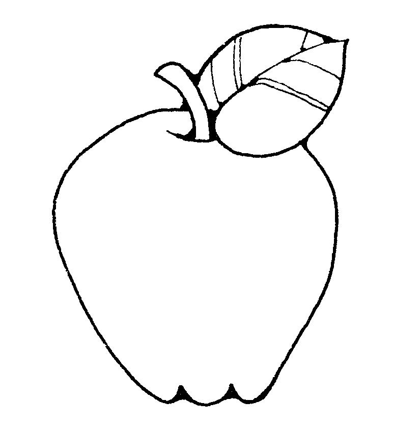 Apple Fruit Picture Az Coloring Pages