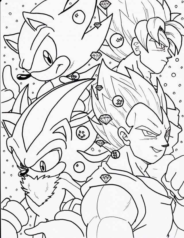 Dark Sonic Coloring Pages - Coloring Home