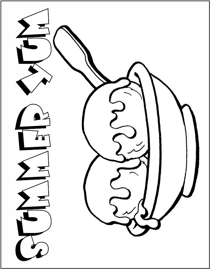 free snow cone coloring pages - photo#21