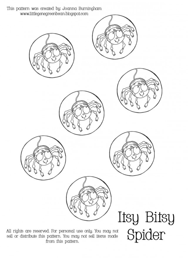 Itsy Bitsy Spider Coloring Pages