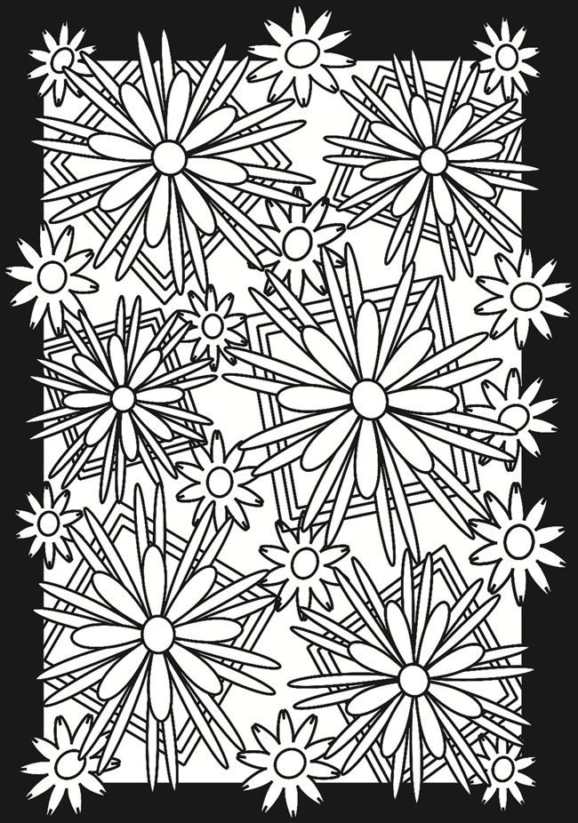 Fractal coloring pages for kids