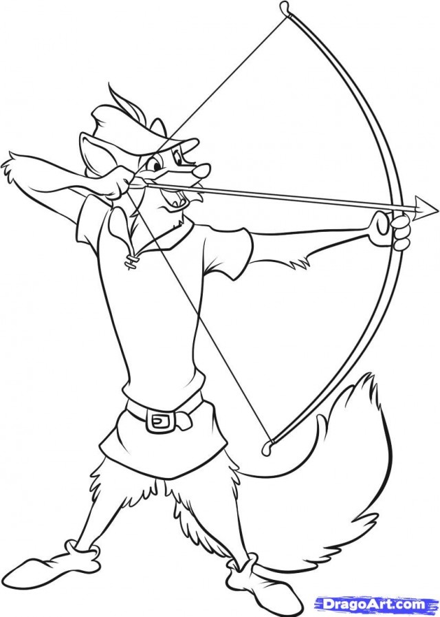 Disney Robin Hood Coloring Pages