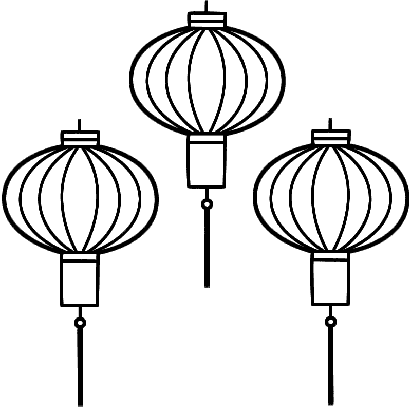 Chinese Lanterns - Coloring Page (Chinese New Year)