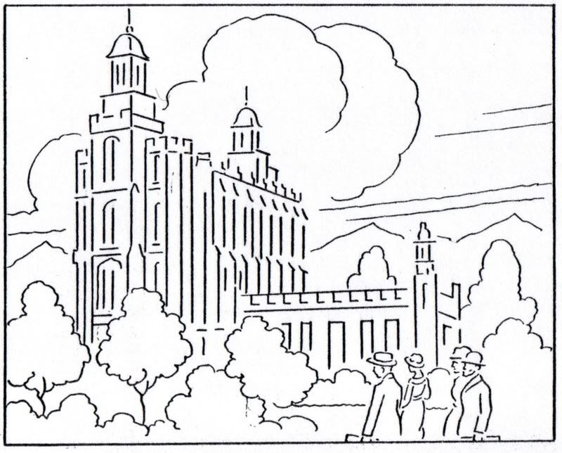 Salt Lake Temple Coloring Page Coloring Home