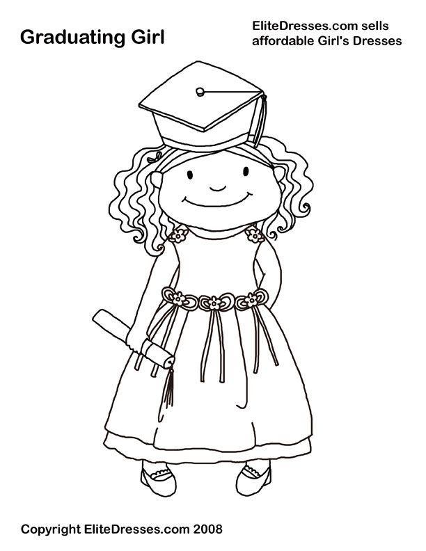 Preschool Graduation Coloring Pages - Coloring Home