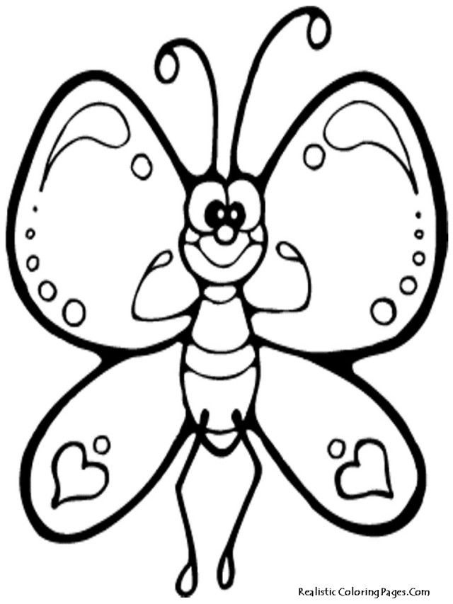 New Cartoon Butterfly Coloring Pages | Laptopezine.