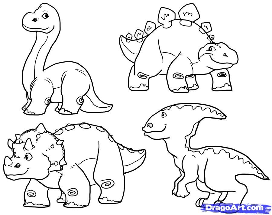 Cute Dino Coloring Pages - Coloring Home