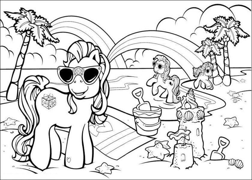 coloring pages beach - beach color page coloring home