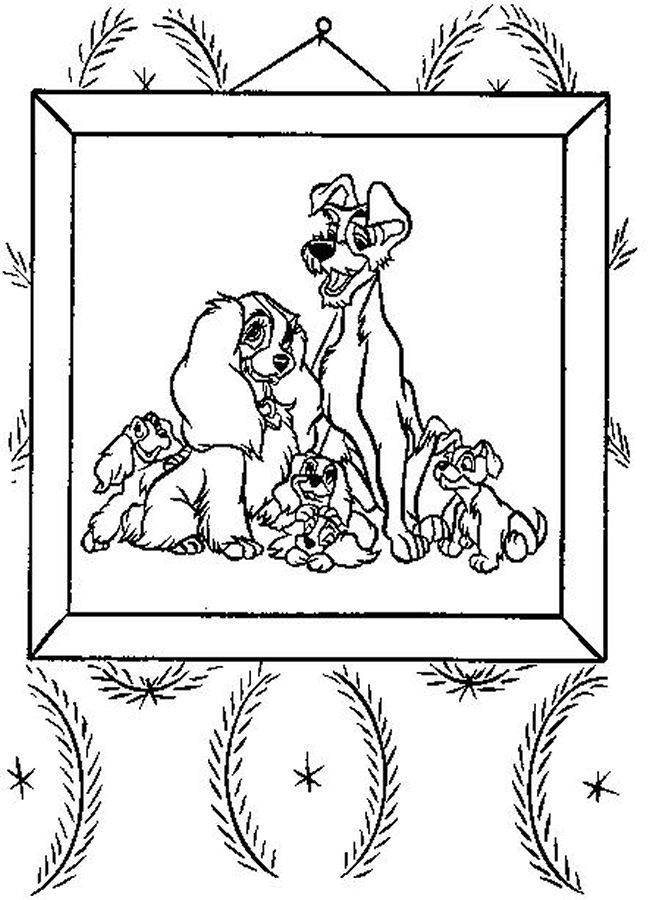 lady the tramp coloring pages - photo#29
