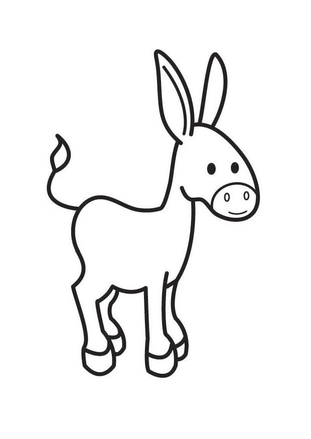 Coloring page donkey - img 17538.