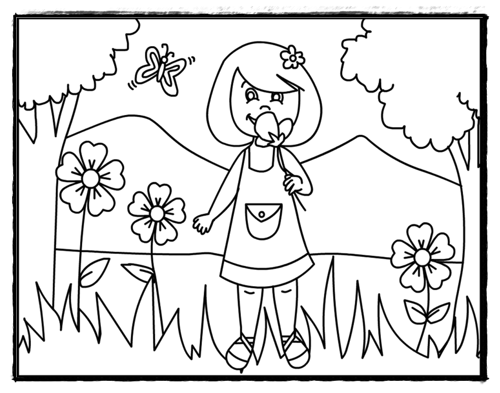 Preschool Summer Coloring Pages