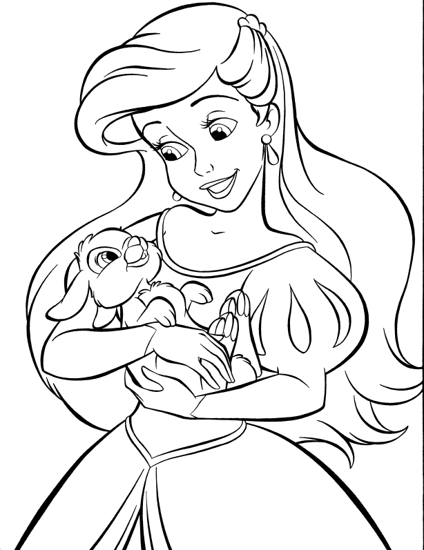 Coloring Pages Princess Pdf : Princess ariel coloring page home