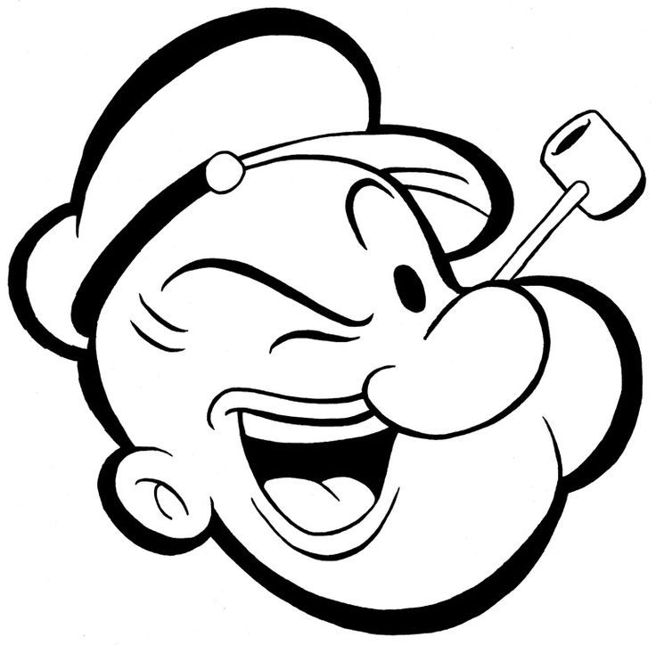 Popeye Coloring Pages  Coloring Home