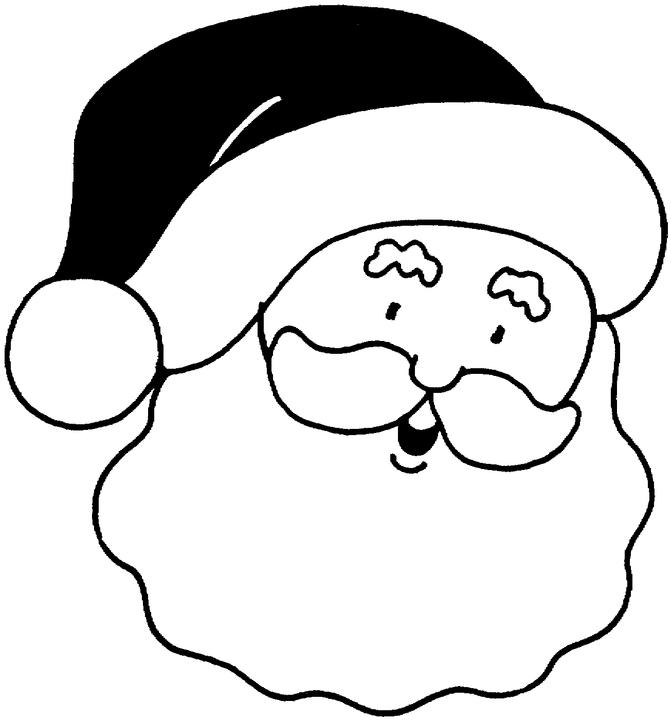 Santa Face Images Coloring Home