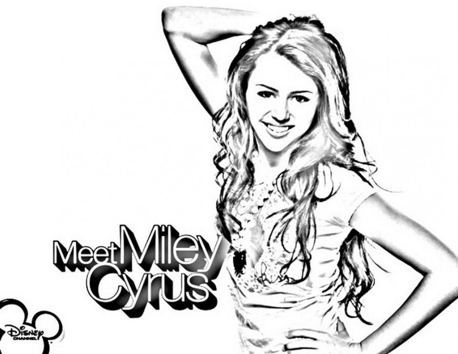 Coloring Page Hannah Montana