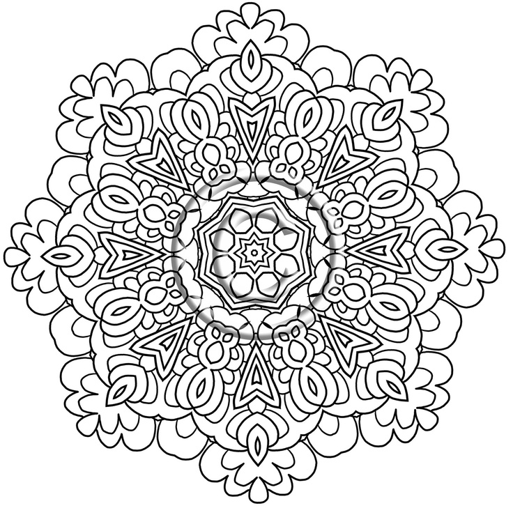 Intricate Design Coloring Pages AZ