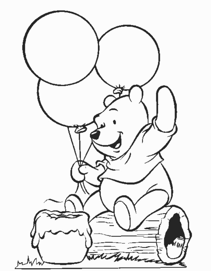 Coloring Pages Of Baby Winnie The Pooh  Coloring Home