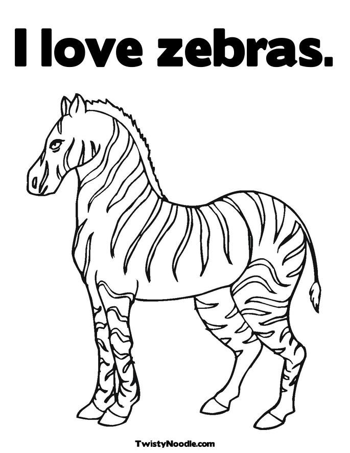 Zebra color pages coloring home for Zebras coloring pages