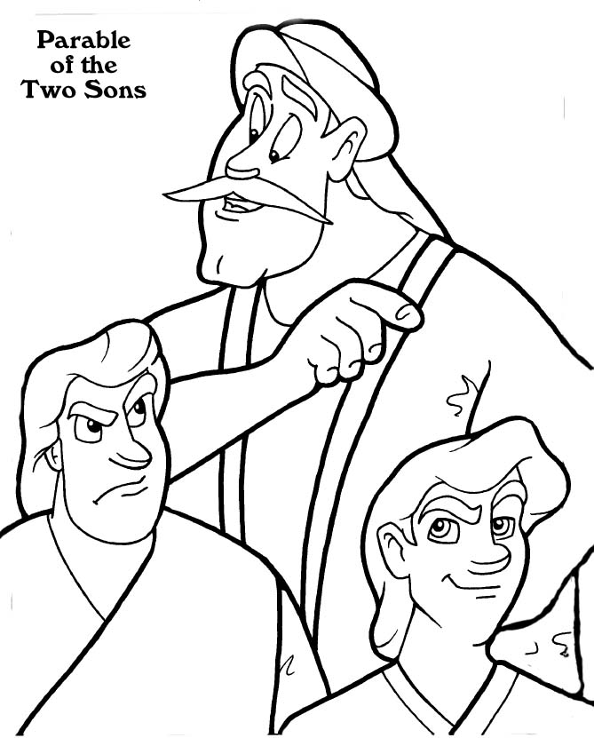 Jesus Parables For Kids Coloring Home Parables Of Jesus Coloring Pages