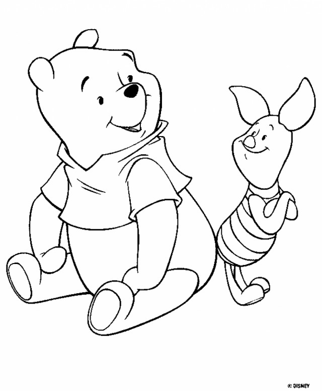 clasic poooh coloring pages - photo#3