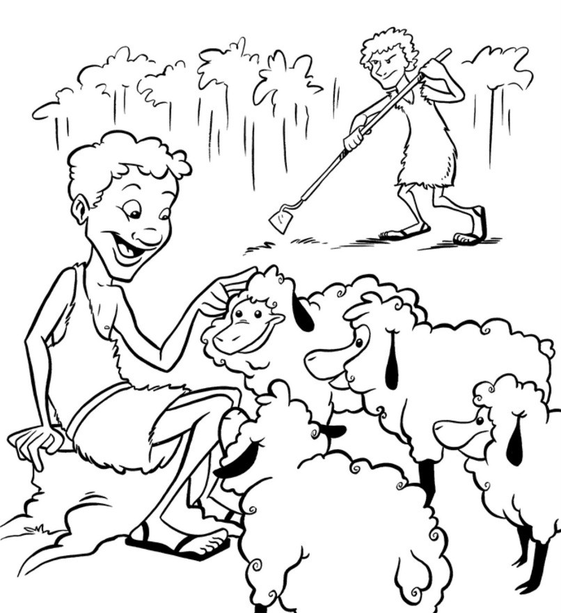 cain and abel coloring pages - photo#1