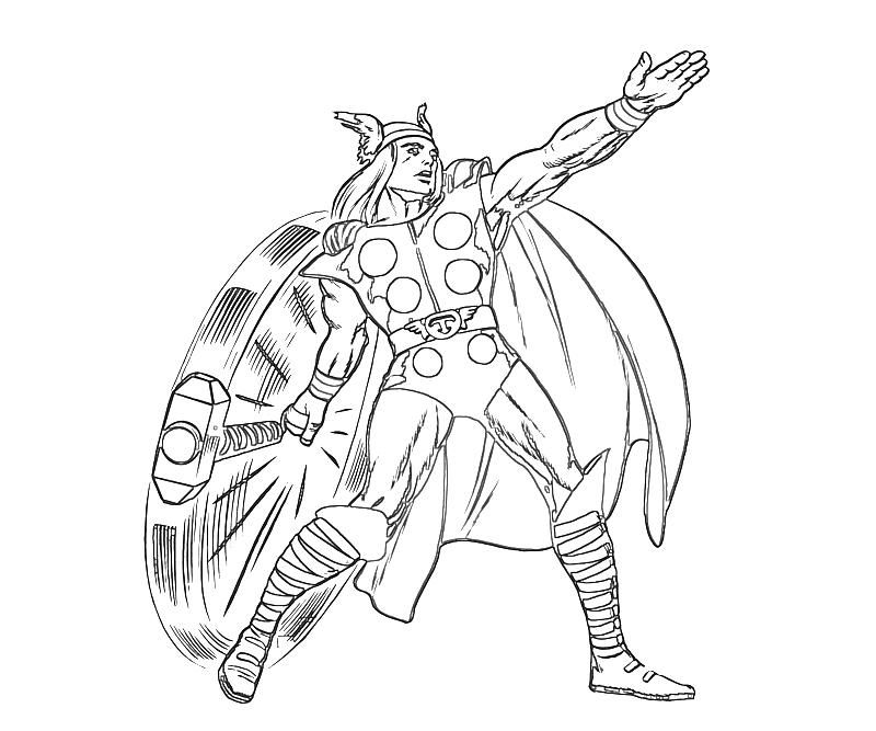Thor Color Page | Printable Coloring Pages - Coloring Home