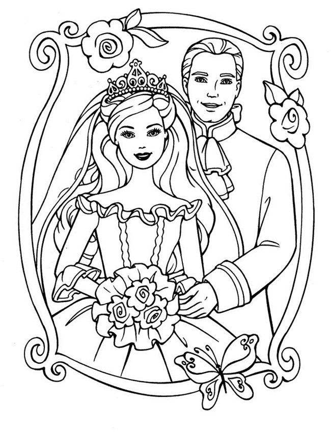 barbie coloring pages full size - photo#8