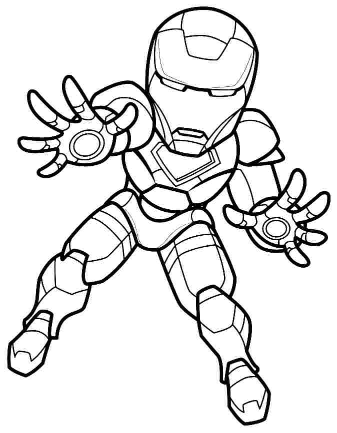 Iron Man Coloring Pages For Kids - AZ Coloring Pages