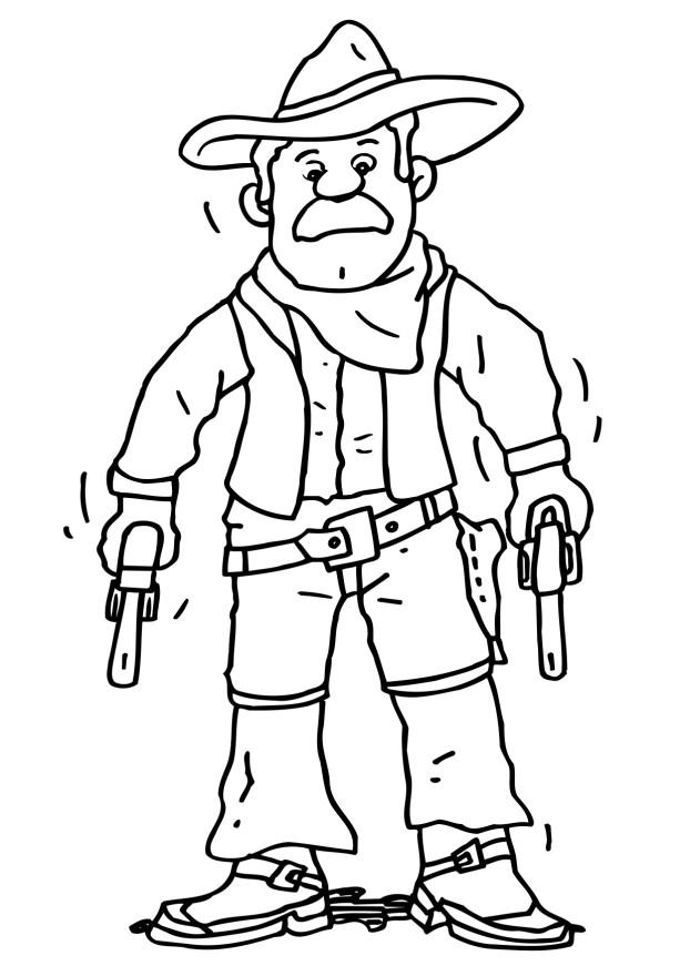 Free Cowboy Coloring Pages Coloring Home