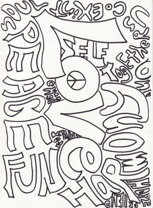 printable peace and happiness coloring pages
