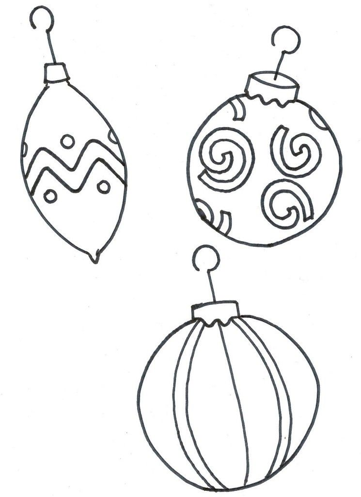 Christmas Tree Ornament Coloring Pages - Coloring Home
