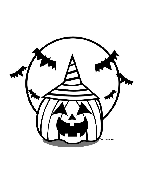 Cartoon jack o lantern coloring home for Coloring pages of jack o lanterns