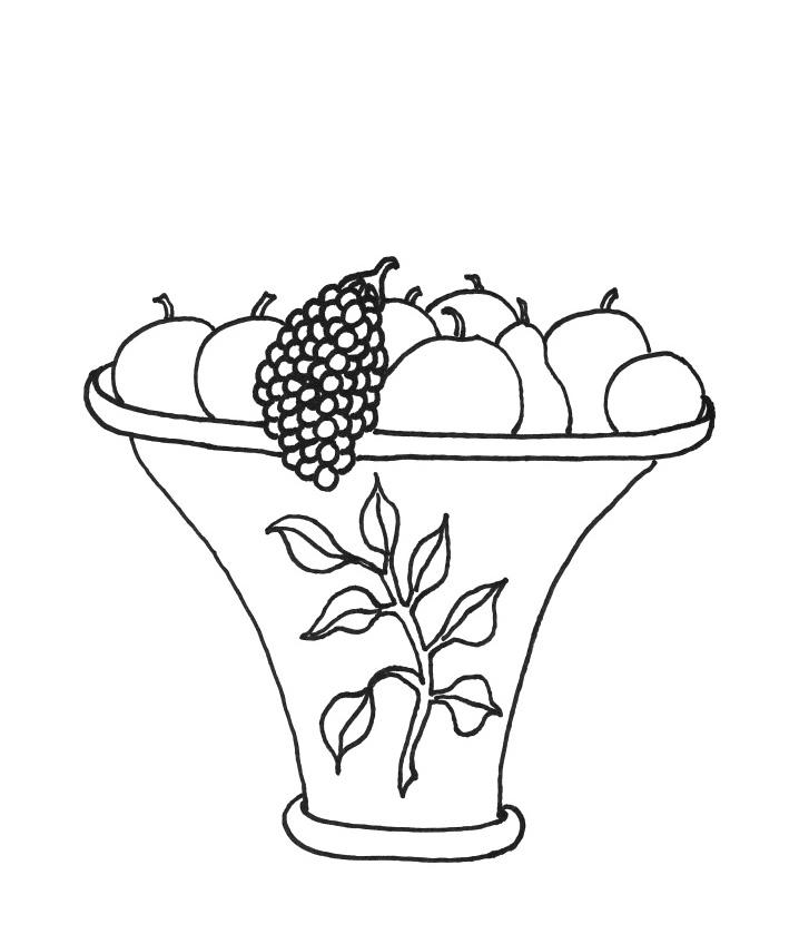 Fruit Basket Coloring Page - AZ Coloring Pages