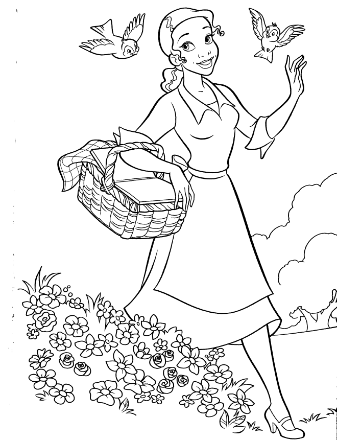 Princess Tiana Coloring Pages Coloring Home