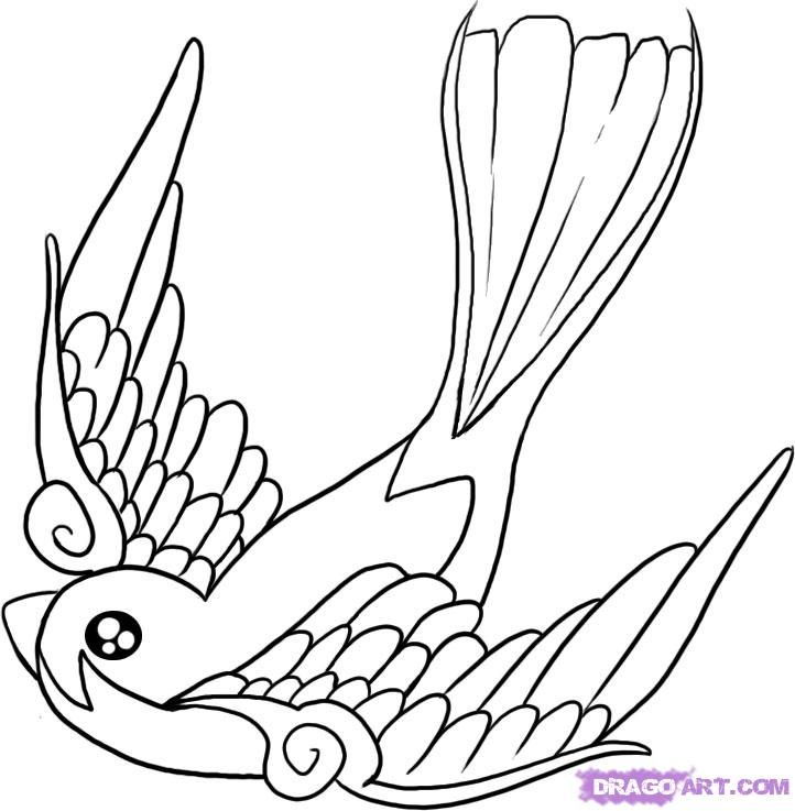 ducks tattoos coloring pages - photo#11