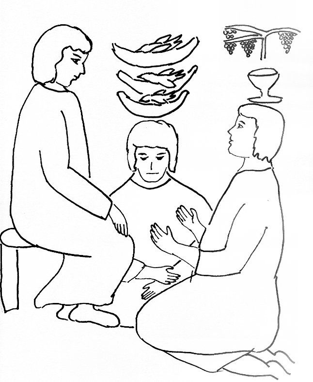 Bible Story Coloring Page for Joseph in Prison | Free Bible