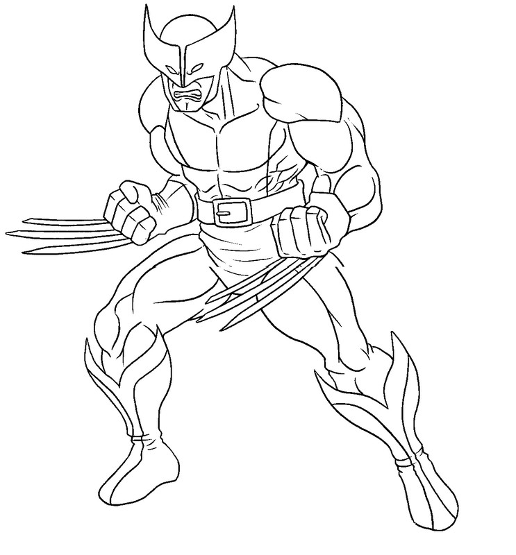 Coloring Pages Wolverine Men : Wolverine coloring pages az