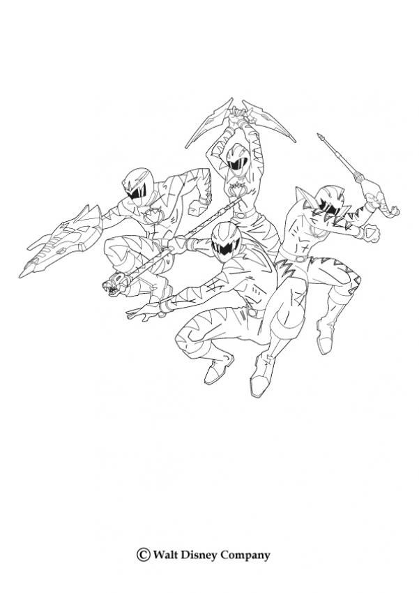 POWER RANGERS coloring pages - Power Ranger sword
