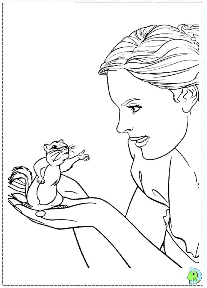 enchanted princess coloring pages - photo#10