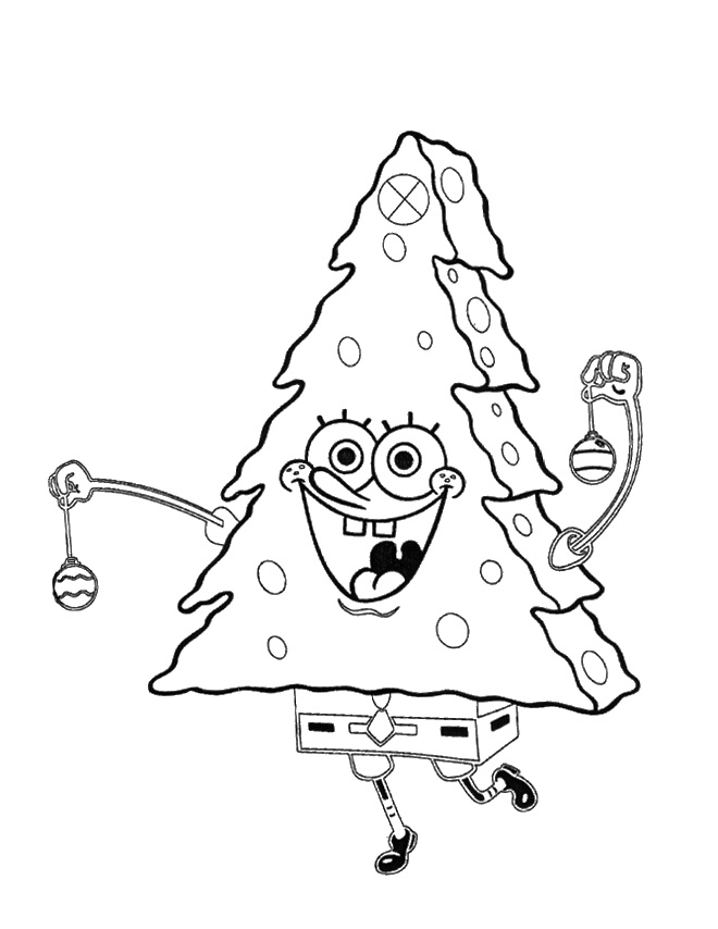 spongebob coloring pages christmas - photo#20
