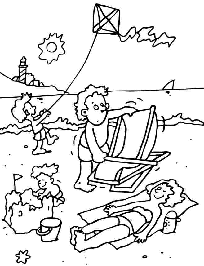 Free Printable Summer Coloring Pages For Preschoolers : Preschool Summer Coloring Pages AZ Coloring Pages