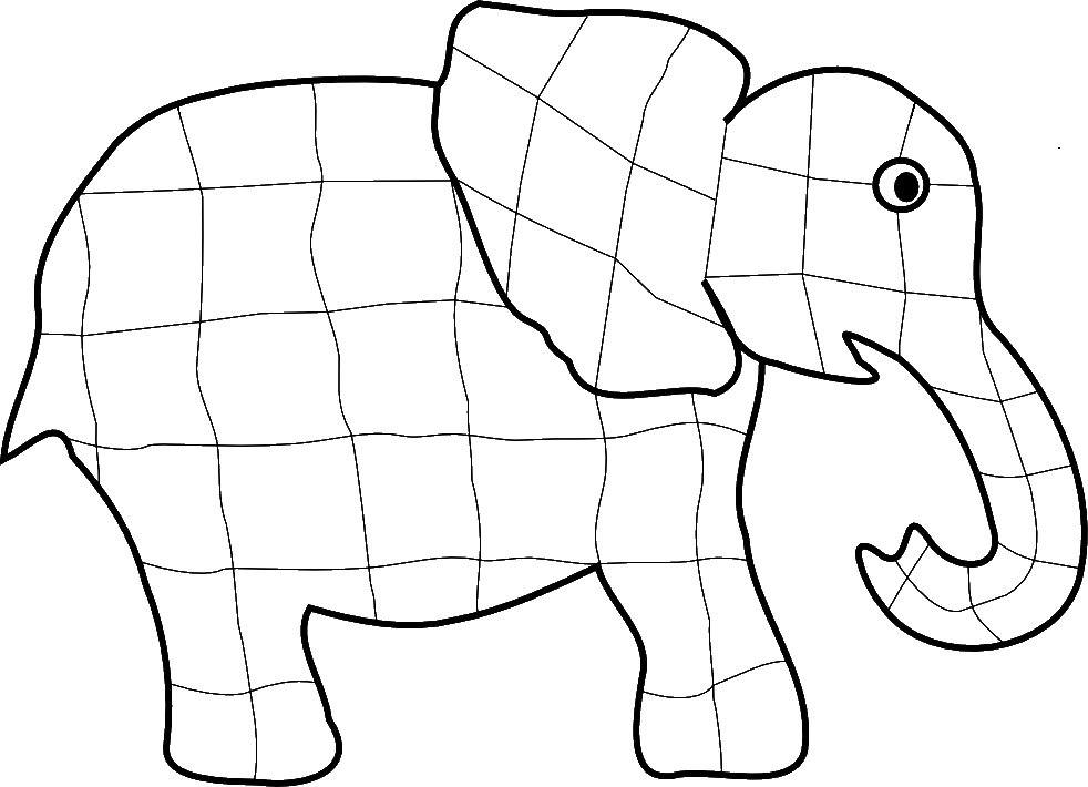 Elmer The Elephant Coloring Pages AZ Coloring Pages
