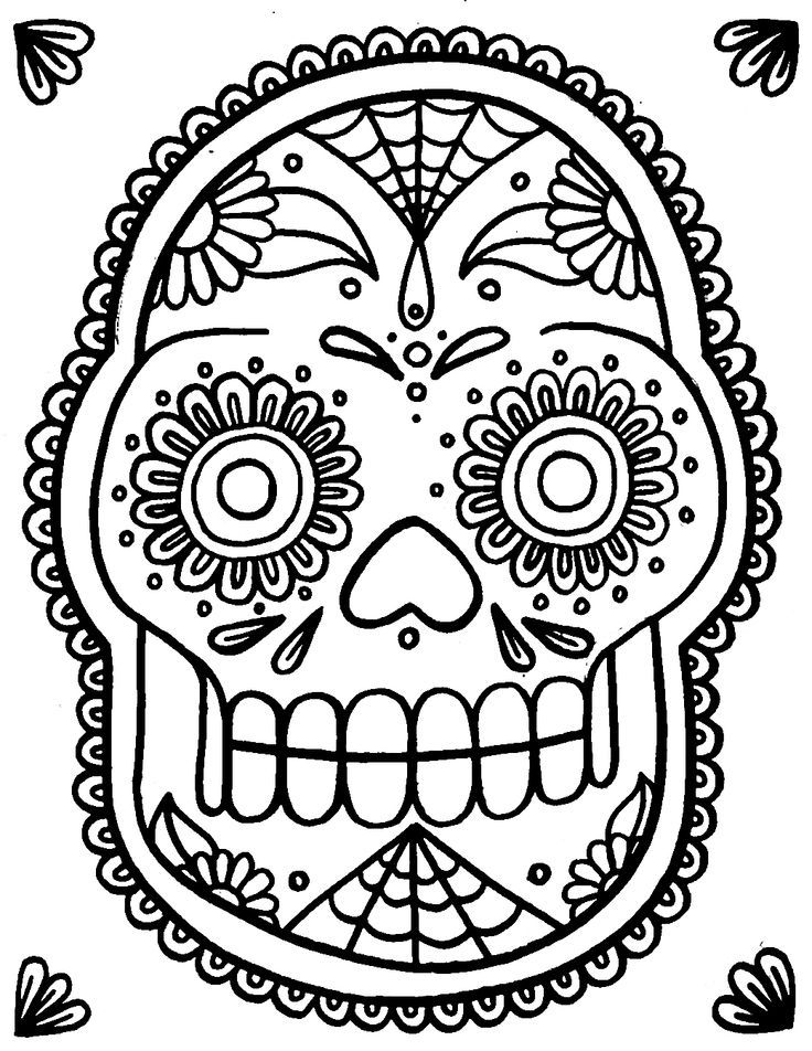 sugar candy skulls coloring pages - photo#20