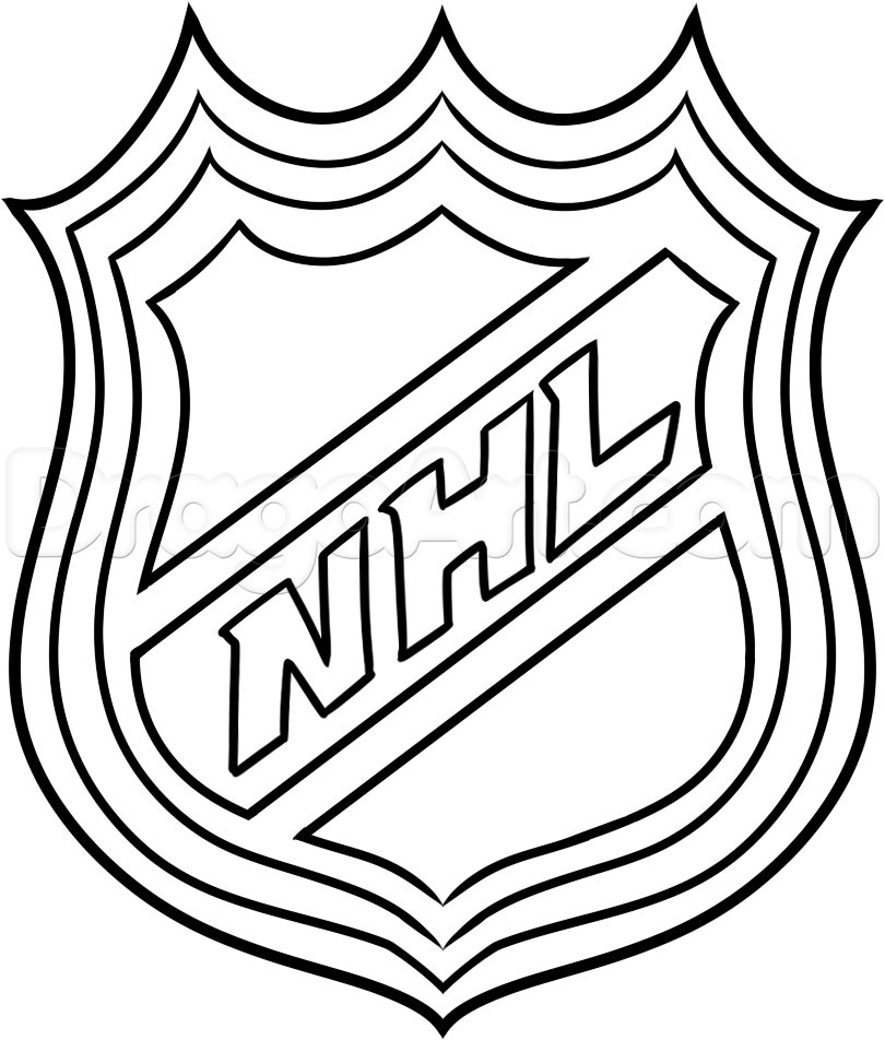 How to Draw the NHL Logo, Step by Step, Sports, Pop Culture, FREE