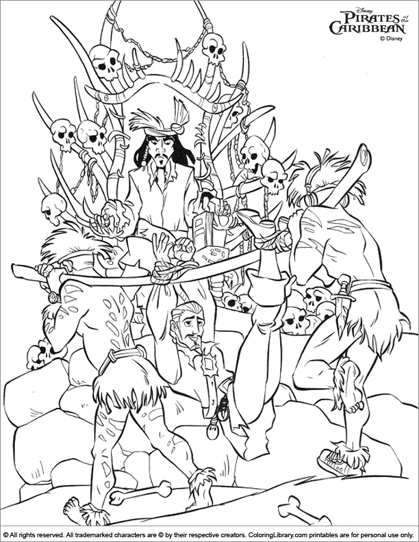 coloring pages pirates of caribbean - photo#19