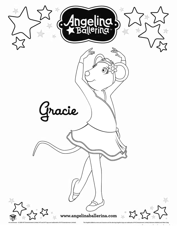 angelina ballerina alice coloring pages - photo#15